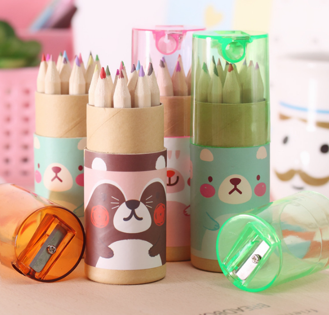 12 pcs Mini Promotional Colored Pencils Set