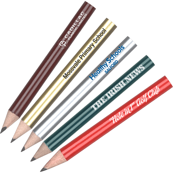 personalised mini pencils