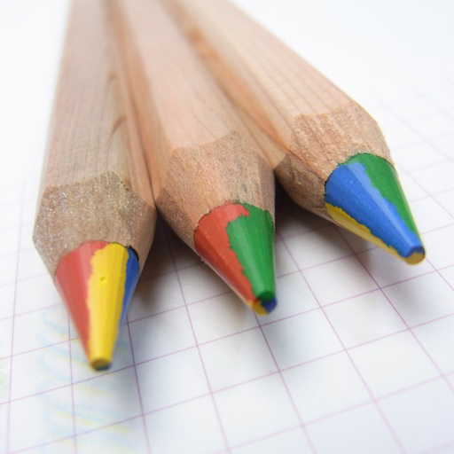 Funny Multi Coloured Pencil Rainbow Natural Wood Thick Pencils