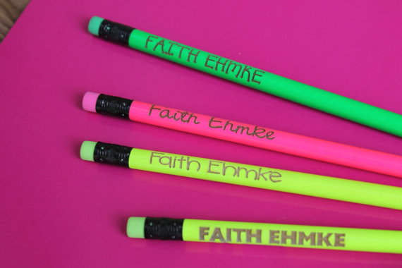 custom pencil-neon pencil with logo