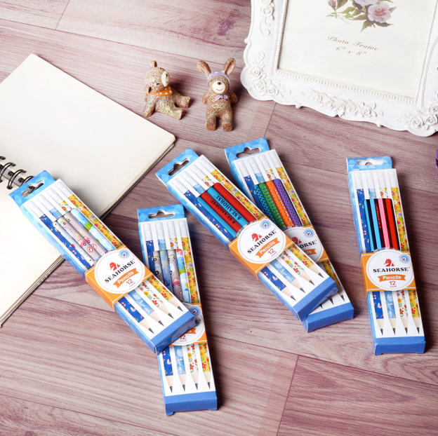 wooden shrink film printing pencil